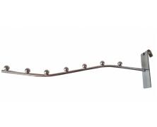 Флейта (кронштейн) на сетку 27 см, 7 шариков
