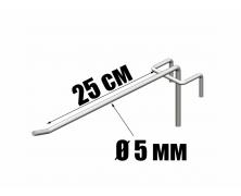 Крючки одинарные на сетку 25 см