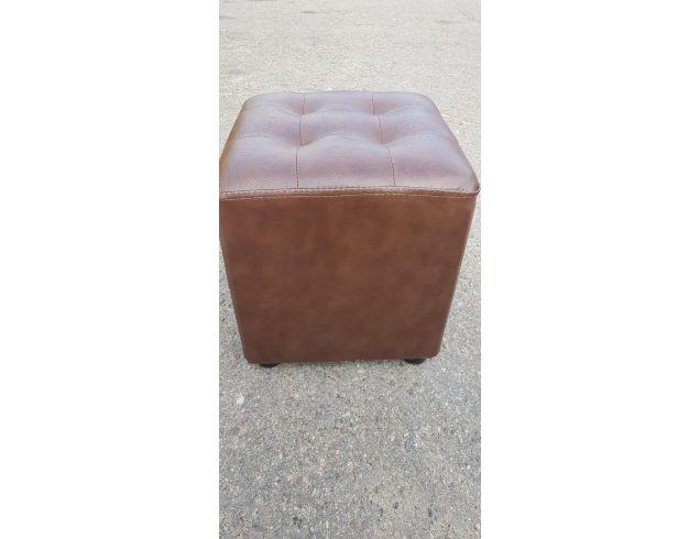 Пуфик квадрат прошитый( коричневый)-35×35×40см