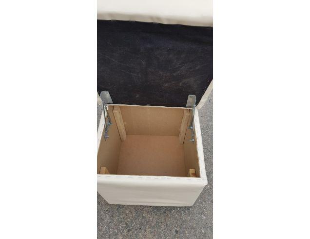 Пуфик квадрат открывающийся (бежевый)-40×40×40см., 999214740