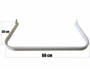Дуга в рейку 60 см,цвет:белый,чёрный, металлик