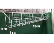 Корзина на сетку 42х10 см с высокими бортами
