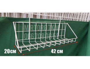 Корзина на сетку 42х20 см с низкими бортами