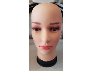 Манекен голова женская (силиконовая)