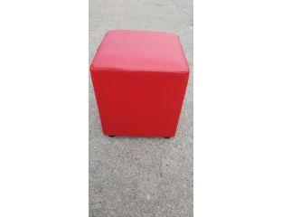 Пуфик квадрат ( красный ) 35×35×40см