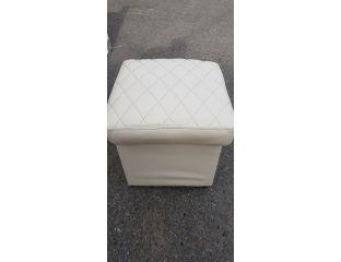 Пуфик квадрат открывающийся (бежевый)-40×40×40см.