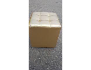 Пуфик квадрат ( золотой )-35×35×40см.