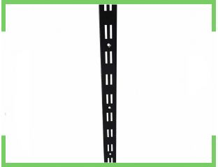Рейка двойная черная пристенная 2м направляющая