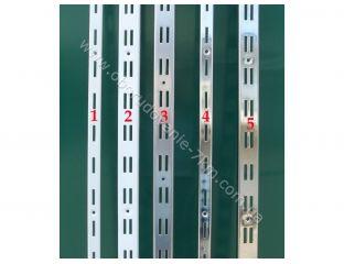 Рейка двойная хромированная пристенная 2м направляющая (Китай) №5