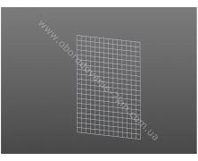 Сетка Торговая Белая (решетка) 120х50см проволока 3мм, ячейка 50/50мм