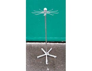 Вешалка Стойка РОМАШКА,высота 1,30м.,ромашка и крестовина окрашены в серый цвет,труба хром.
