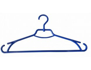 Плечики вешалки пластмассовые для одежды Лиза Украина 43 см (синяя)