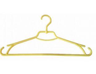 Плечики вешалки пластмассовые для одежды Лиза Украина 43 см (желтая)